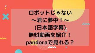 ロボットじゃない~君に夢中!~(日本語字幕)無料動画を紹介!pandoraで見れる?