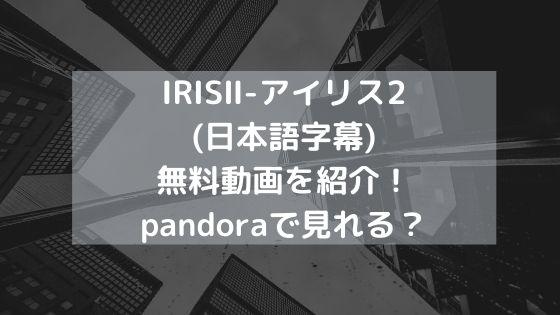 IRISⅡ-アイリス2(日本語字幕)無料動画を紹介!pandoraで見れる?