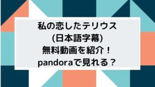 私の恋したテリウス(日本語字幕)無料動画を紹介!pandoraで見れる?